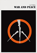 Library Digital Art - Minimalist book cover war and peace by Budi Satria Kwan
