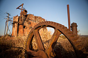 Machinery Photo Posters - Mining Artefacts Historical Antique Machinery Poster by Dirk Ercken