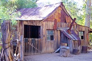David Rizzo Metal Prints - Mining cabin Metal Print by David Rizzo