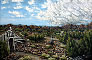 Pinion Painting Originals - Mining Nevada by Julie Townsend