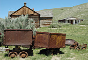 Bannack State Park Photos - Mining Rail Cars Bannack Montana by Bruce Gourley