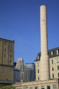 Blue Bricks Photos - Minneapolis Smokestack by Frank Romeo