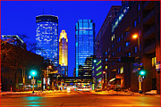 Fuad Azmat Prints - Minneapolis Towers Print by Fuad Azmat