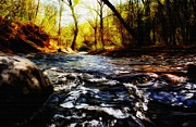 Beautiful Creek Mixed Media Prints - Minnehaha Creek 3 Print by Todd and candice Dailey