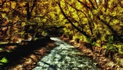 Beautiful Creek Mixed Media Prints - Minnehaha Creek 4 Print by Todd and candice Dailey