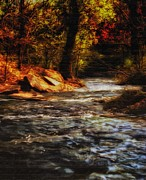 Beautiful Creek Mixed Media Prints - Minnehaha Creek Print by Todd and candice Dailey