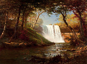 Famous Artists - Minnehaha Falls by Albert Bierstadt