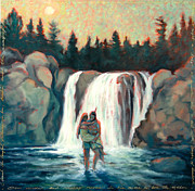 Great Outdoors Paintings - Minnehaha - Laughing Water by Jane Dierberger