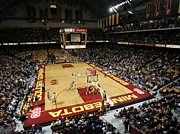 Basketball Posters Prints - Minnesota Golden Gophers Williams Arena Print by Replay Photos