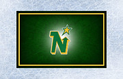 Puck Prints - Minnesota North Stars Print by Joe Hamilton