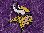 Pro Football Digital Art Prints - Minnesota Vikings Print by Jack Zulli