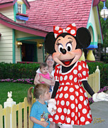 Florida House Posters - Minnie Mouse Greeting Poster by Doug Kreuger