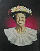 People Sculpture Prints - Minnie Print by Phyllis Dunn