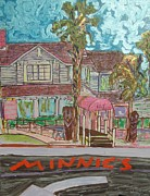 Modesto Paintings - Minnie s Restaurant by James  Christiansen