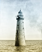 Boston Digital Art Metal Prints - Minots Ledge Lighthouse Metal Print by Digital Reproductions