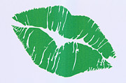 Fetishes Posters - Mint Green Kiss Poster by Nina Prommer
