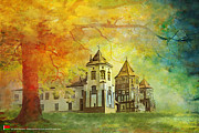 Historic Statue Painting Framed Prints - Mir Castle Complex Framed Print by Catf
