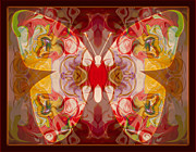 Miracles Can Happen Abstract Butterfly Artwork Print by Omaste Witkowski