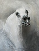 White Horse Painting Originals - Miracles Happen by Dorota Kudyba