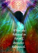 Empowerment Mixed Media Posters - Miracles Happen Poster by Tara Catalano