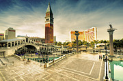 The Strip Framed Prints - Mirage and the Venitian  Framed Print by Rob Hawkins