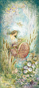 Landscape In Israel Prints - Miriam in the bulrushes Print by Michoel Muchnik
