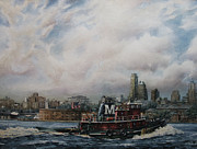 Moran Originals - Miriam Moran off Governors Island  New York by Keith Miller