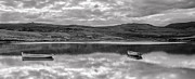 Grey Clouds Photo Originals - Mirror B-W by Sergey Simanovsky