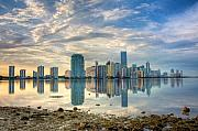 Miami Photo Posters - Mirror City Poster by William Wetmore