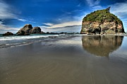 Pacific Coast Beaches Framed Prints - Mirror In The Sand Framed Print by Adam Jewell