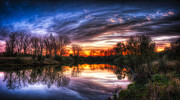 Cloudscape Digital Art - Mirror Lake by Jeff Burton