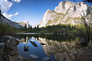 California Posters - Mirror Lake Yosemite Poster by Jane Rix