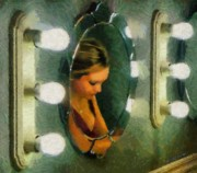 Daughter Prints - Mirror Mirror on the Wall Print by Jeff Kolker