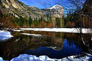 Mountain Valley Framed Prints - Mirror on the Lake Framed Print by Peter Dang
