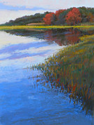 Tidal River Pastels - Mirrored Edge by Ed Chesnovitch