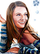 Photorealistic Framed Prints - Mischa Barton Framed Print by Mike Rogers