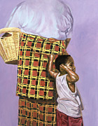 African Art Portrait Paintings - Mischief by Colin Bootman