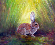 Rabbit Pastels - Mischief In The Garden by Loretta Luglio