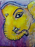 Ganesha Paintings - Mischievous Ganesha by Asha Sudhaker Shenoy