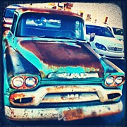 Transportation Art - Misfit On Beverly Blvd.  #gmc #truck by David S Chang