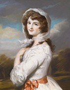 Portrait Drawings - Miss Adelaide Paine by William Hamilton
