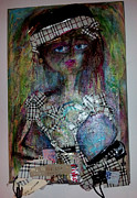 Rodeo Drive Mixed Media Originals - Miss Burberry on Rodeo Drive by Rachel Ganz