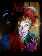 Glove Painting Originals - Miss Diller by Paul Gilbert Baswell