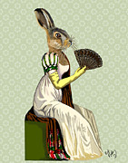 Wall Decor Framed Prints Digital Art - Miss Hare by Kelly McLaughlan