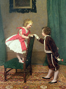 Stood Paintings - Miss Lilys First Flirtation by James Haylar