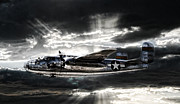 World War 2 Aviation Prints - Miss Mitchell Print by Peter Chilelli