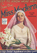 Featured Prints - Miss Modern 1931 1930s Uk   Brides Print by The Advertising Archives