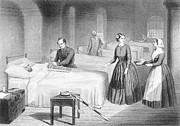 Miss Nightingale In The Hospital Print by Robert Neal Hind