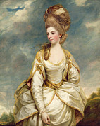 Reynolds Paintings - Miss Sarah Campbell by Sir Joshua Reynolds