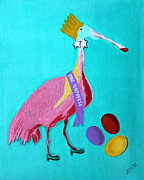 Flamingo Drawings Prints - Miss Universe Print by Lorna Maza